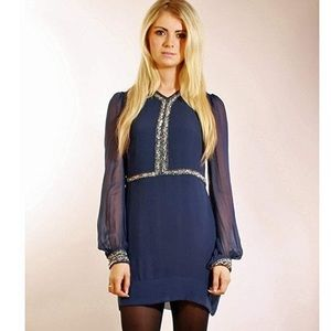 French Connection Winter Bex Beads Dress